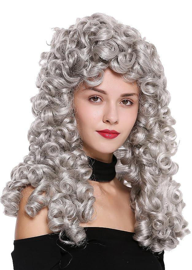 WIG ME UP ® - B17-2P-B-51 peluca de mujer hombre Barroco ...
