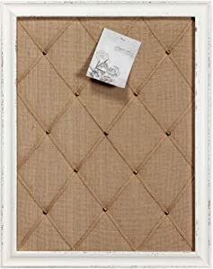 Antique White Linen Fabric Pin Board, 21