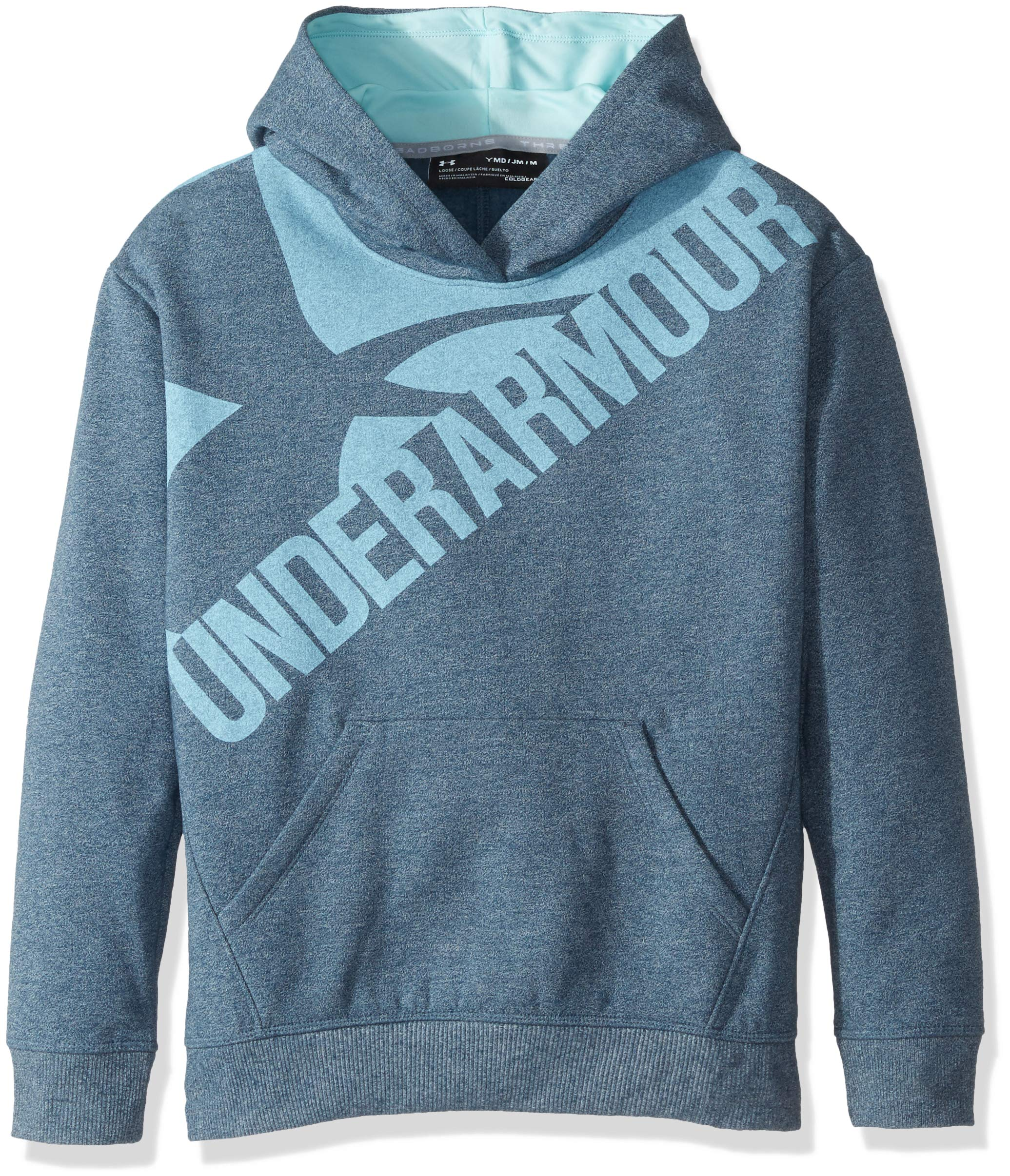 Under Armour Girls Threadborne Novelty Fleece Hoodie,True Ink /Blue Infinity, Youth X-Small