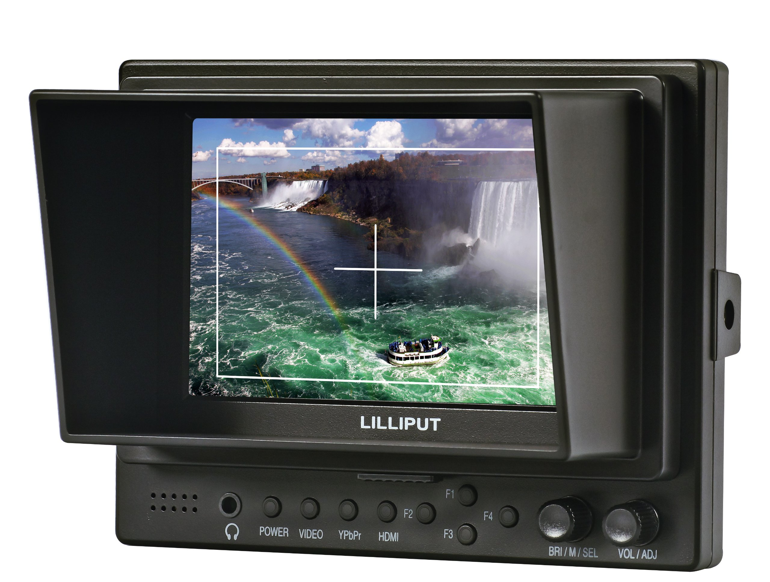 Lilliput 5'''' 569gl-50np/h/y Hdmi In+shoe Mount+hdmi Cable+gimbal Bracket on Camera Video Field Monitor