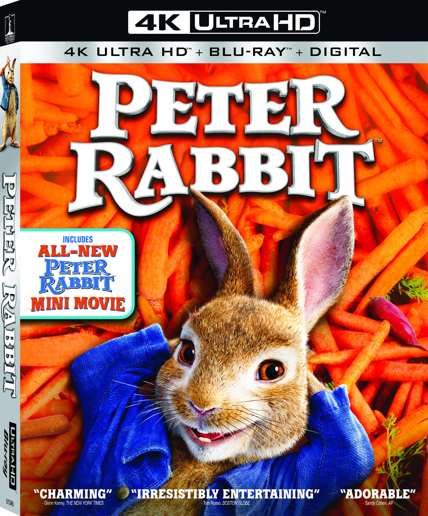 4K Blu-ray : Peter Rabbit (With Blu-Ray, 4K Mastering, Widescreen, Subtitled, Dubbed)