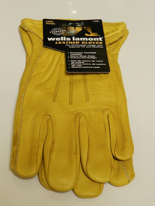Mens leather gloves amazon uk - Wells Lamont Premium Leather Gloves Size Mens Medium