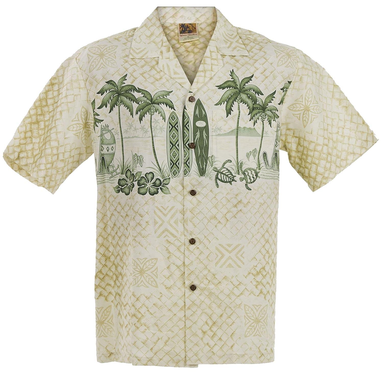Surf Mat Hawaiian Aloha Shirt; Made in Hawaii
