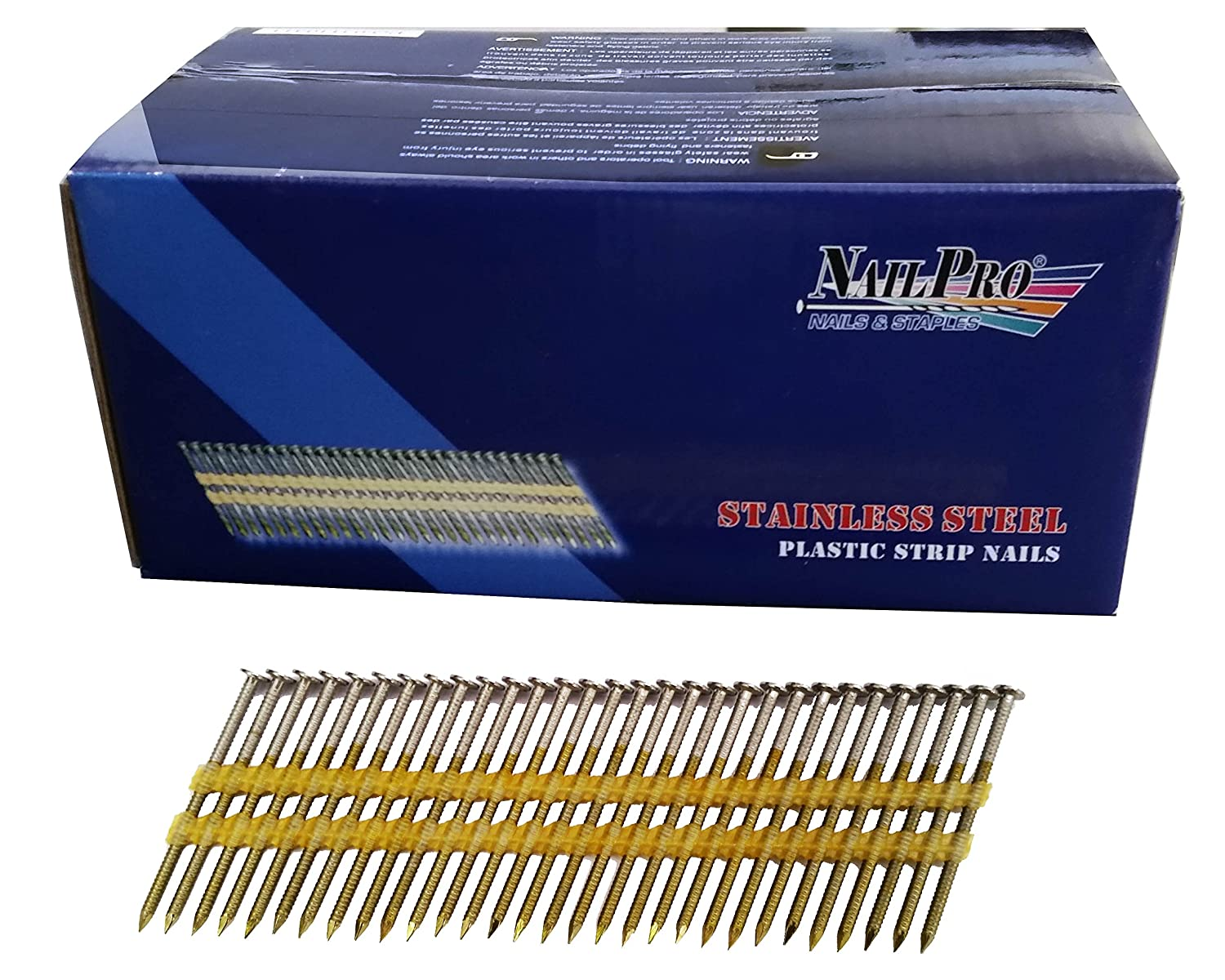 NailPro 2 Inch by 0.113 - 1000 Pcs. per Carton - Type 304 Stainless ...