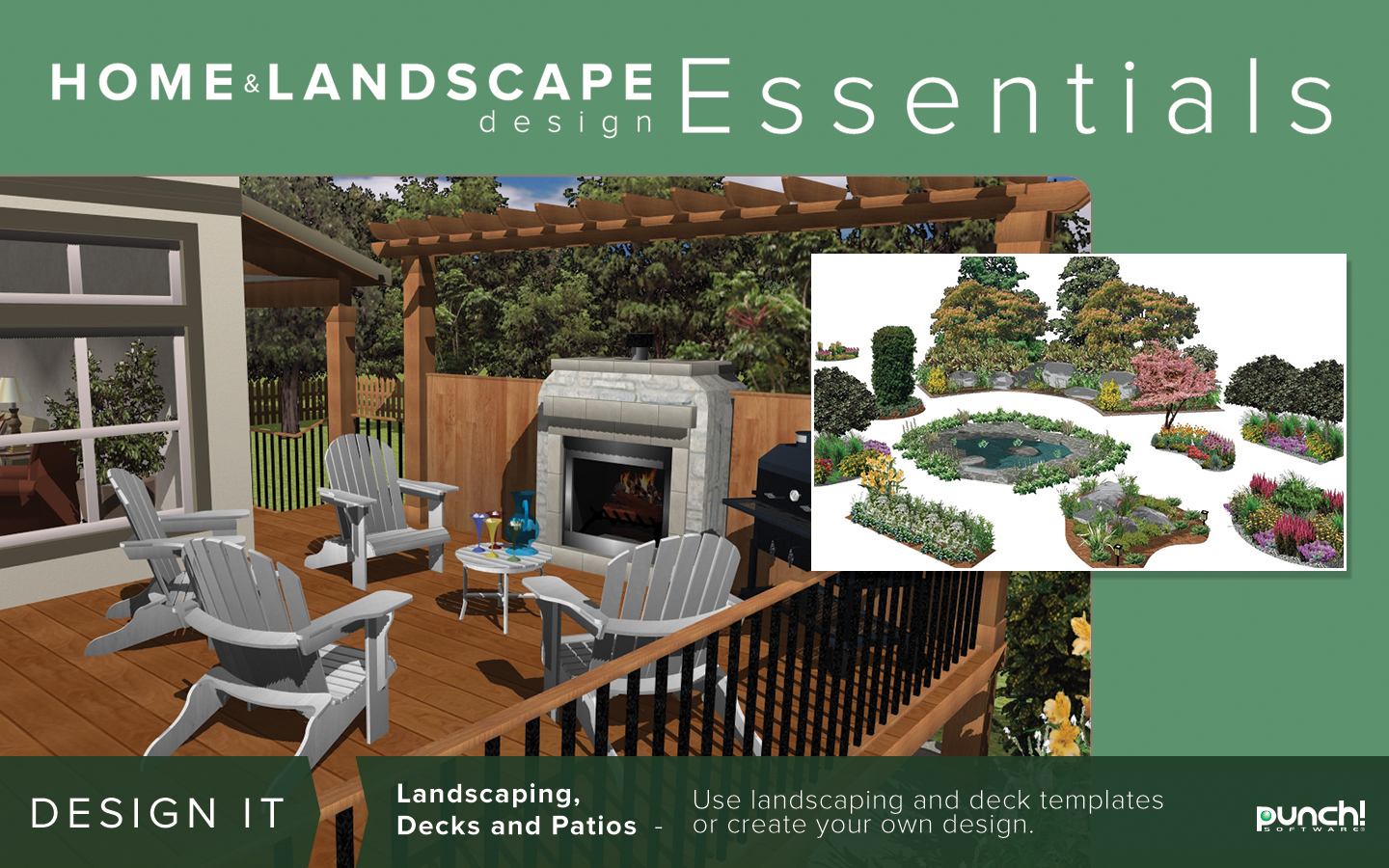 Punch home landscape design essentials v19 for windows for Punch home landscape design essentials v19