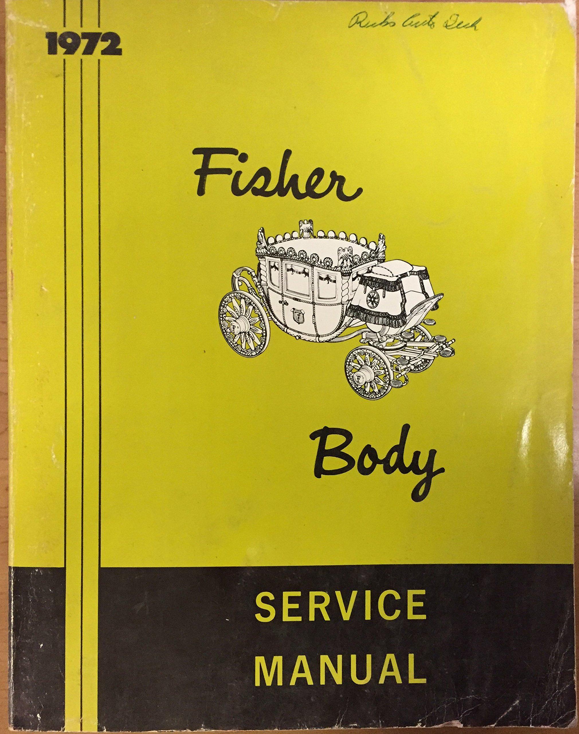 1972 Camaro Fisher Body Manual