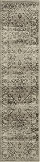 product image for Maples Rugs Distressed Lexington Non Slip Runner Rug For Hallway Entry Way Floor Carpet [Made in USA], 2'6 x 10, Neutral