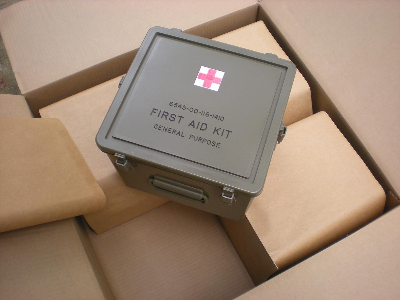 11x11x8 EPC Military GP First Aid Kit Hard Plastic Case Box