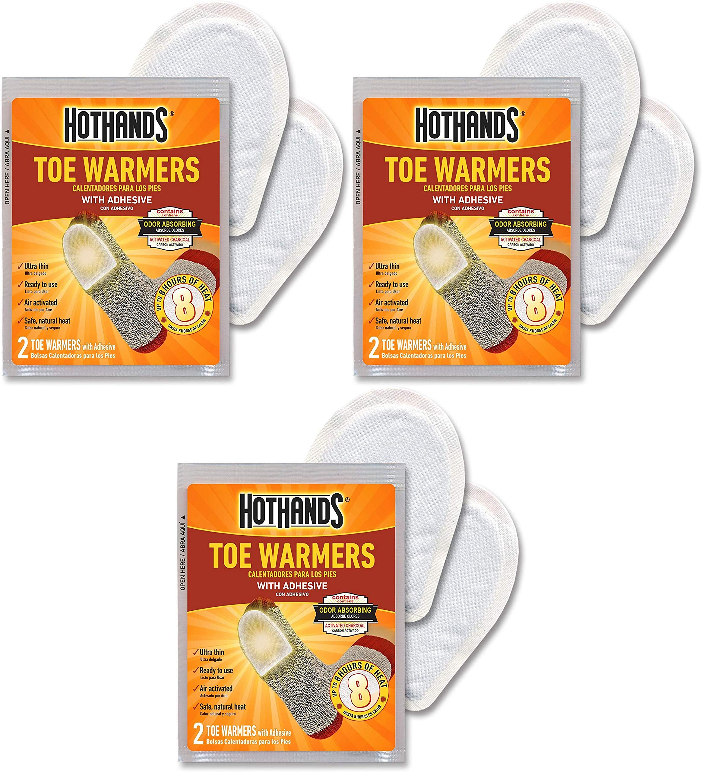 HotHands Toe Warmers 20 Pair Pack of 3 by HotHands