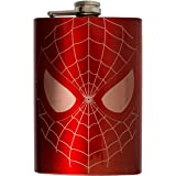 8oz RED I Can Do What a Spider Can Flask L1