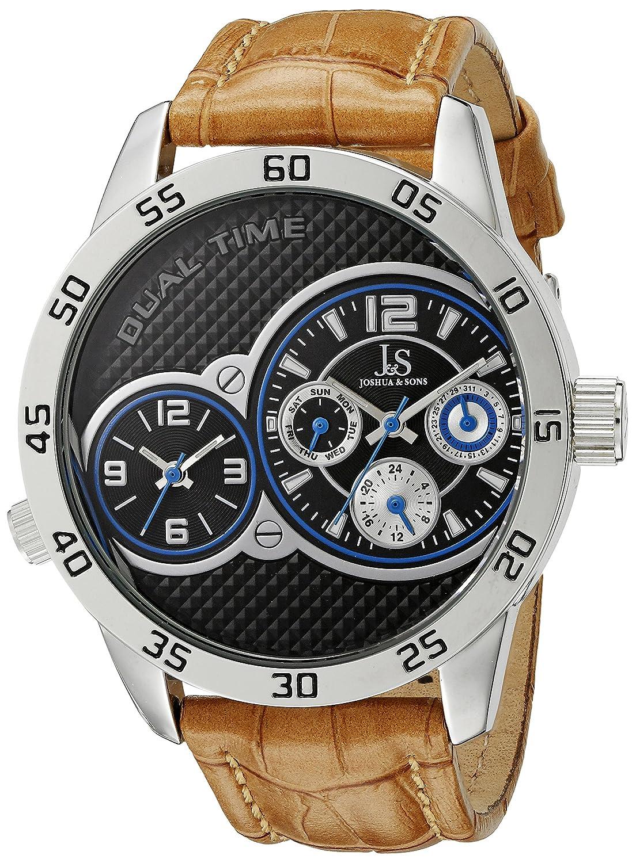 Joshua & Sons Herren-Armbanduhr JS97SSBR Analog Quarz
