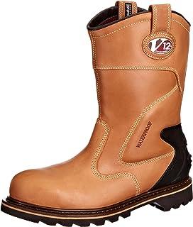 V12 Rocky, Zip-Sided Waterproof Safety Hiker, 05 UK 38 EU, Brown ...