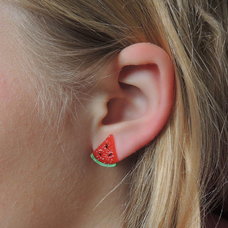 Amazon: Watermelon Earrings, Hypoallergenic Plastic Post Studs For  Metal Sensitive Ears: Handmade