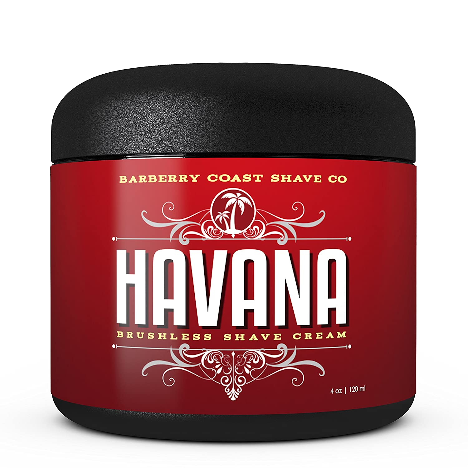 Havana Shaving Cream for Men - Scent: Tobacco, Vanilla, Coco Bean - Made with Shea Butter, White Tea & All Natural Ingredients