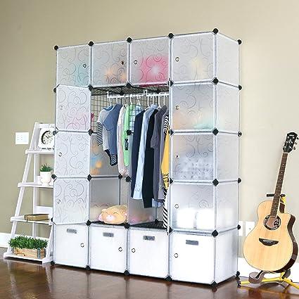 UNICOO   Multi Use DIY 20 Cube Organizer, Wardrobe, Bookcase, Storage  Cabinet,