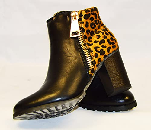womens leopard print ankle boots