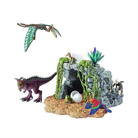 Schleich Set Di Dinosauri Con Caverna Amazonit Giochi E Giocattoli