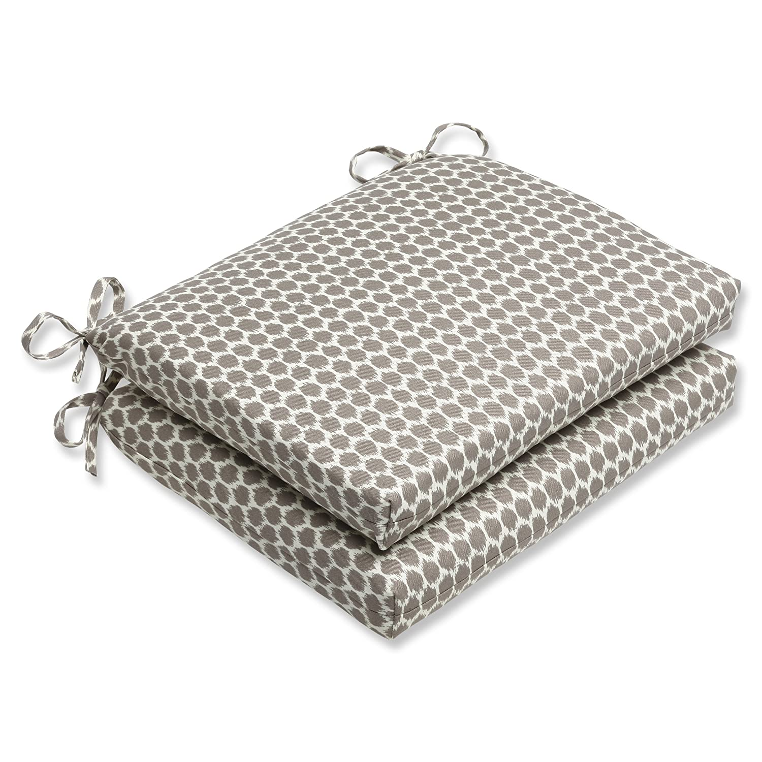 Pillow Perfect Outdoor Seeing Spots Sterling Squared Corners Seat Cushion, Set of 2
