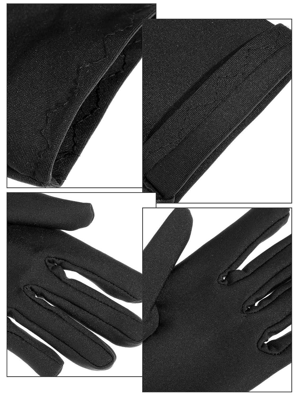 Negro 2, Blanco 2, Rojo 2 Sumind 3 Pares de Guantes de Longitud de Mu/ñeca Guantes de Sat/én Cortos de Mujeres Guantes Cortos de /Ópera para Fiesta de Boda A/ños de 1920