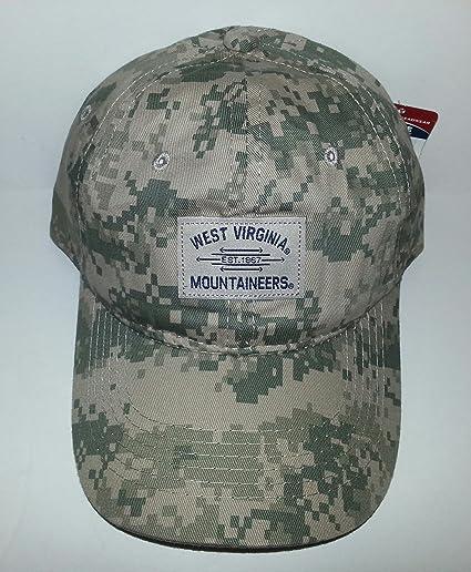huge discount 08162 1ed72 Amazon.com  West Virginia Mountaineers Adjustable Snapback Hat Camo Cap   Sports   Outdoors