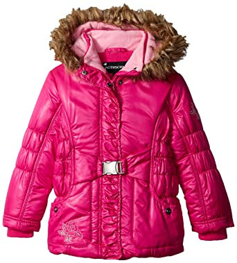 3c95e887c21d Amazon.com  Rothschild Little Girls  Toddler Puffer Coat with Bow ...