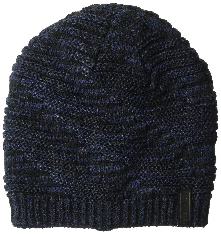 Calvin Klein Unisex Dimensional Beanie Winter Hat Navy One Size HCKHT616