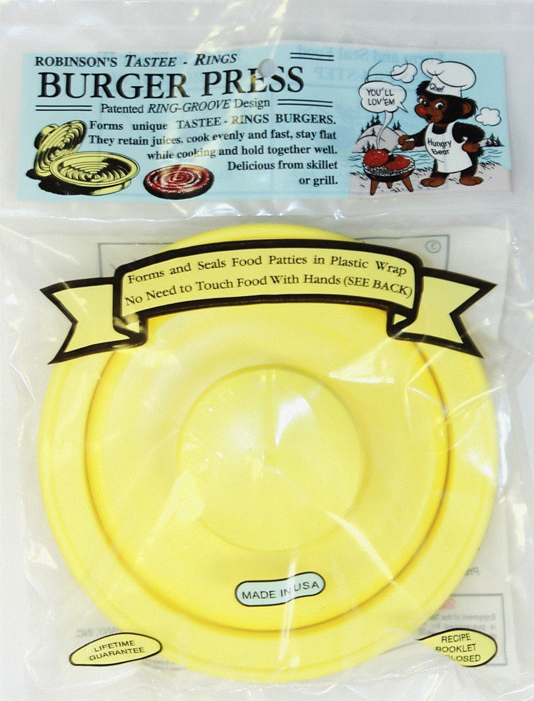 Robinsons Tastee Rings Burger Press