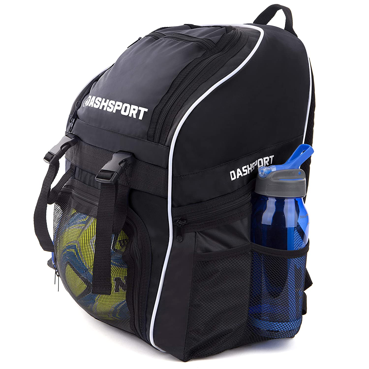 Amazon.com   Soccer Backpack - Basketball Backpack - Youth Kids Ages 6 and  Up - with Ball Compartment - All Sports Bag Gym Tote Soccer Futbol  Basketball ... 057f20a401c8e