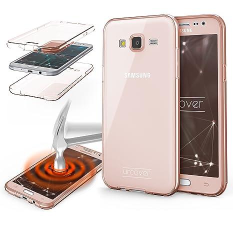 Urcover® Funda Compatible con Samsung Galaxy J5 (2015) Carcasa Protectora 360 Grados Silicona Gel en Transparente Full Body Protección Completa ...