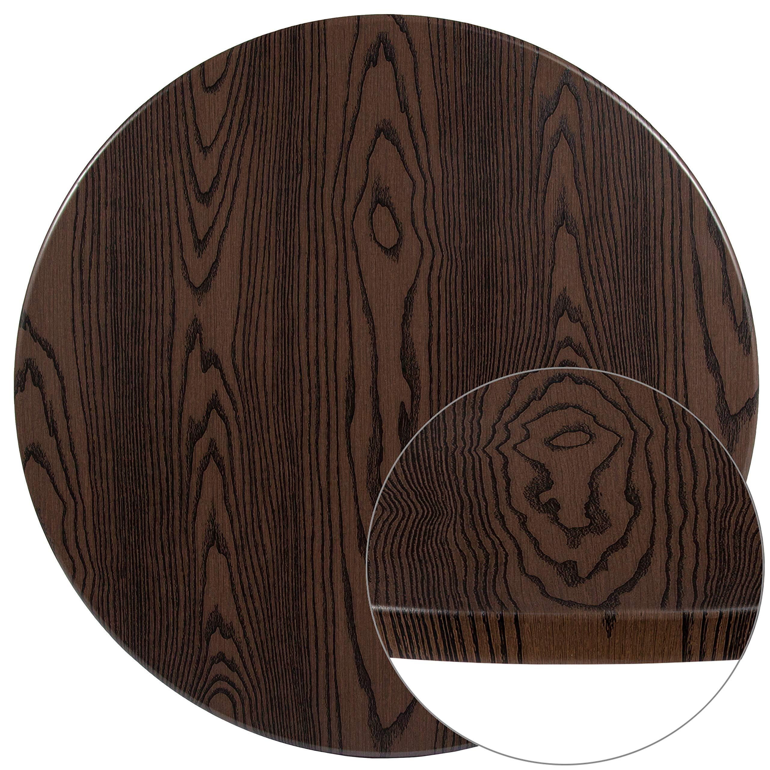 Flash Furniture XU-RD-42-WD-GG Rustic Wood Grain Laminate Restaurant Table Tops