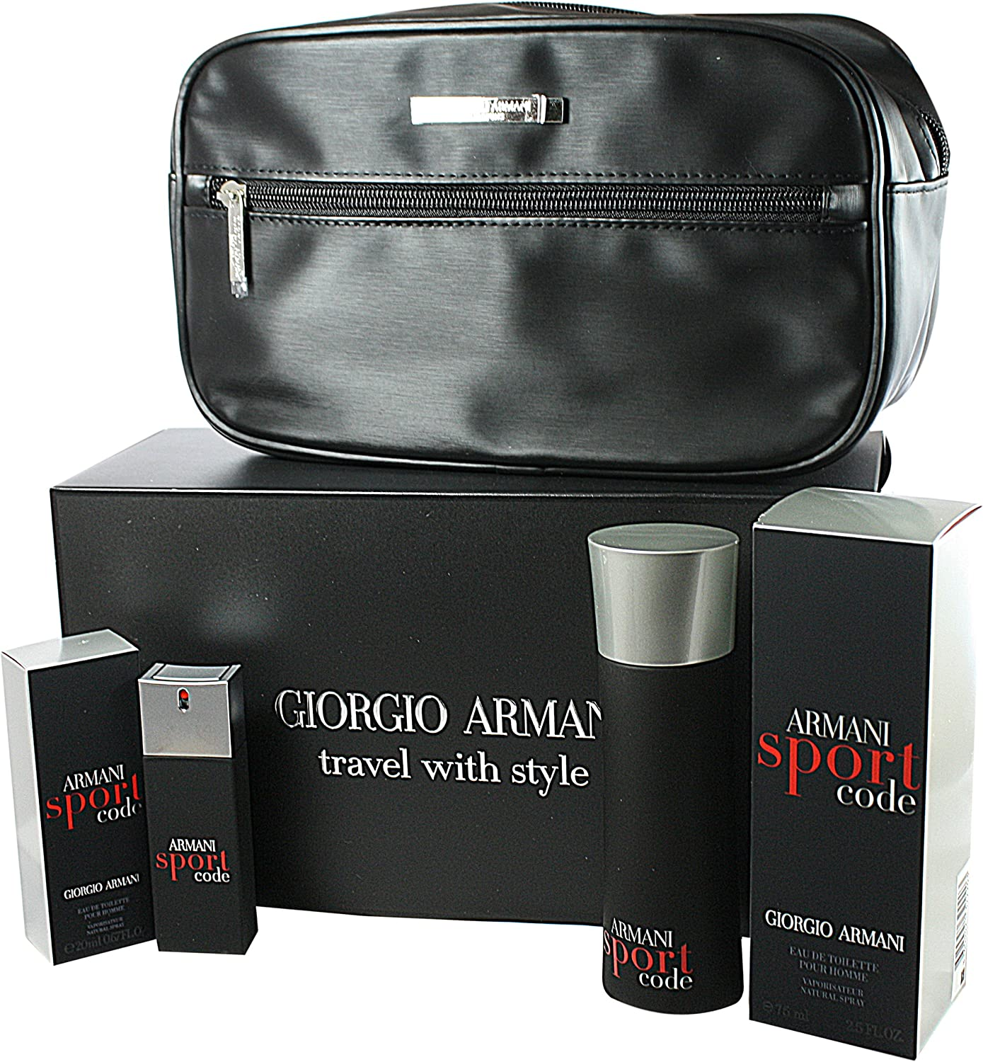 Giorgio Armani Código Sport Set de regalo Homme/Men, Eau de Toilette, vaporisateur/Spray 75 ml, Eau de Toilette, vaporisateur/Spray 20 ml, 1er Pack (1 x 95 ml): Amazon.es: Belleza