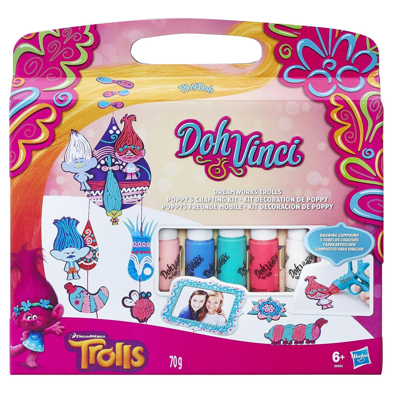 Amazon.com: Play-Doh Doh Vinci Dreamworks Trolls Poppy\'s Crafting ...