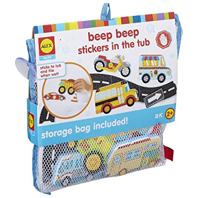 Alex Bath Beep Beep Stickers in The Tub Bath Toy Kids Bath Activity: Toys & Games