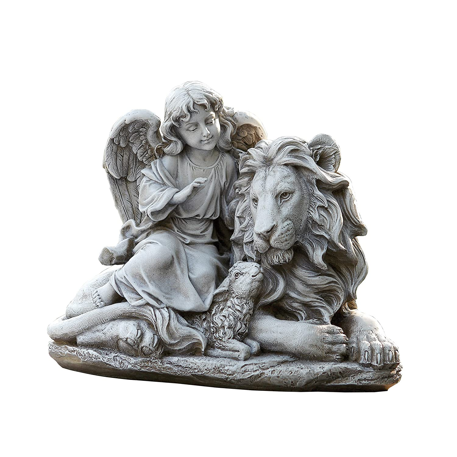 Amazon.com : Josephu0027s Studio Angel With A Lion And Lamb Garden Statue,  14.5 Inch, Made Of Resin Stone : Garden U0026 Outdoor