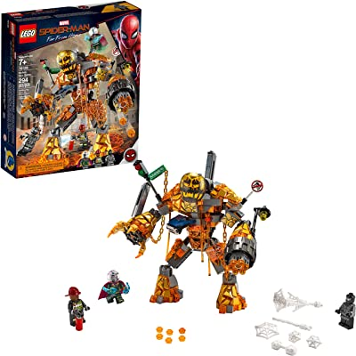 LEGO Marvel Spider-Man Far From Home: Molten Man Battle 76128 Building Kit (294 Pieces): Toys & Games