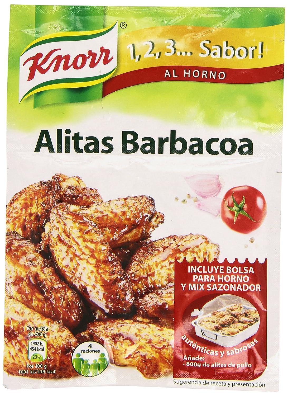 Knorr 1,2,3. Sabro AL HORNO - Alitas Barbacoa, 52gr. (1 unidad ...
