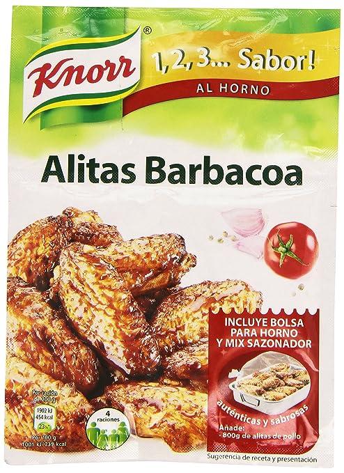 Knorr 1,2,3... Sabro al Horno Alitas con Sabor a Barbacoa - 52 g