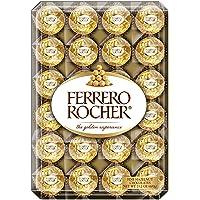Ferrero Rocher Fine Hazelnut Chocolates, Chocolate Gift Box, Diamond, 48 Count, 21.2oz