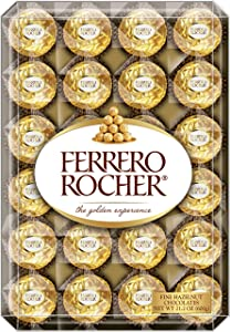 Ferrero Rocher Fine Hazelnut Chocolates, 48 Count Chocolate Gift Box, 21.2 Oz