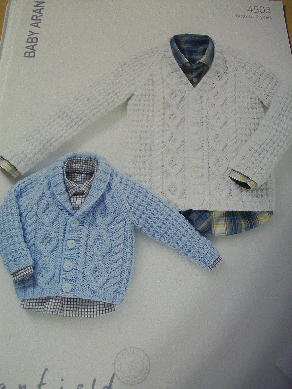 Sirdar (Hayfield) Baby Aran Knitting Pattern 4503. Cardigans. Age ...