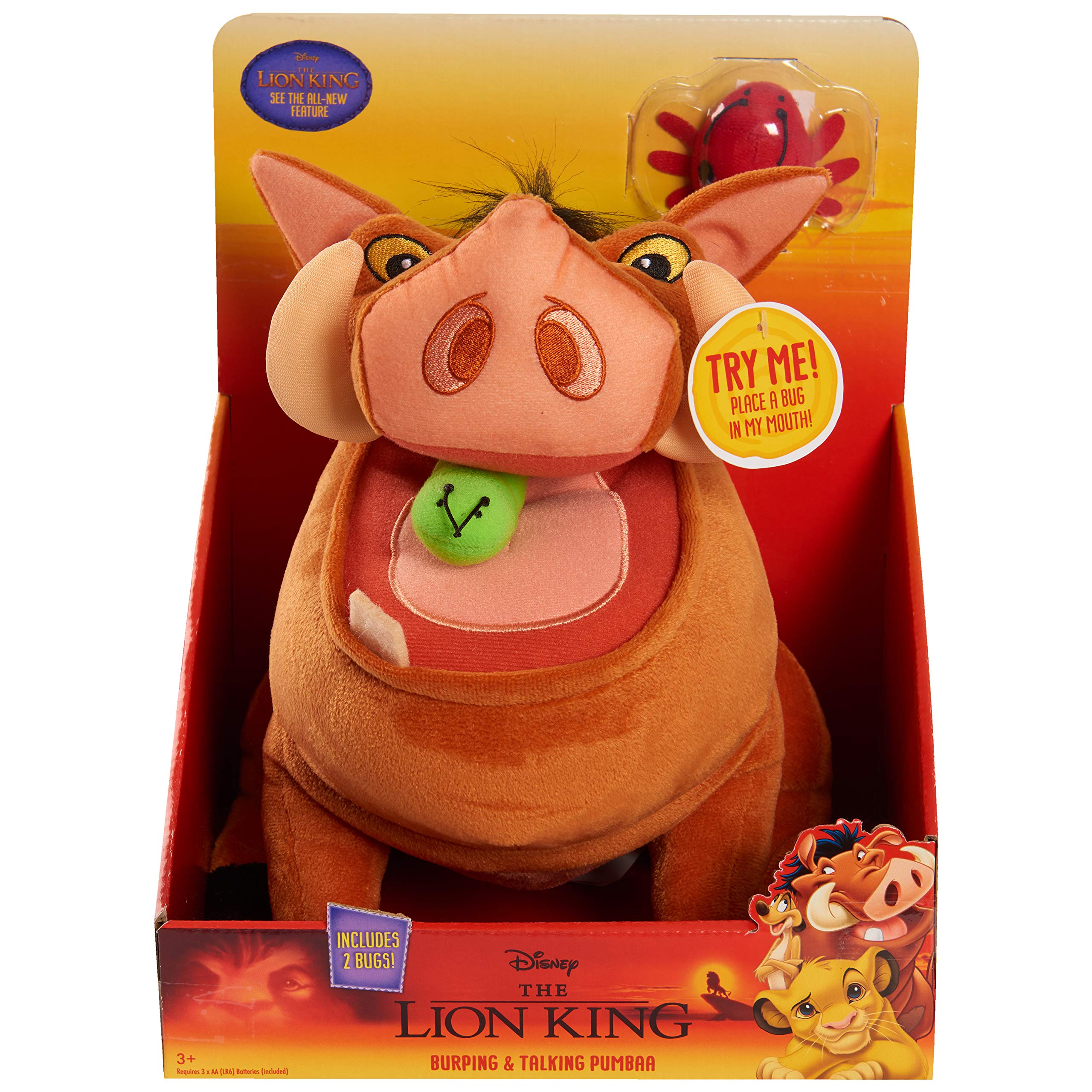 Lion King Classics Burping & Talking Pumbaa- EXCLUSIVE