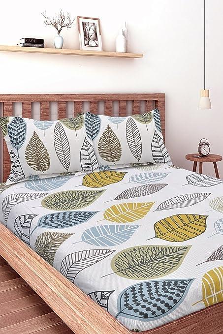 0c41415d4b5 Ahmedabad Cotton 160 TC Cotton Double Bedsheet with 2 Pillow Covers -  Multicolour