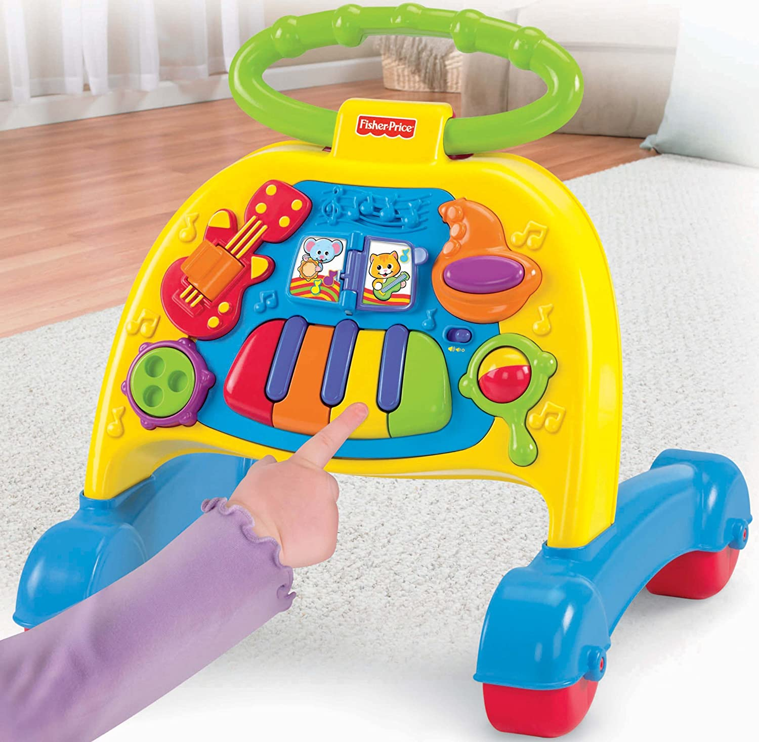 Amazon Fisher Price Brilliant Basics Musical Activity Walker