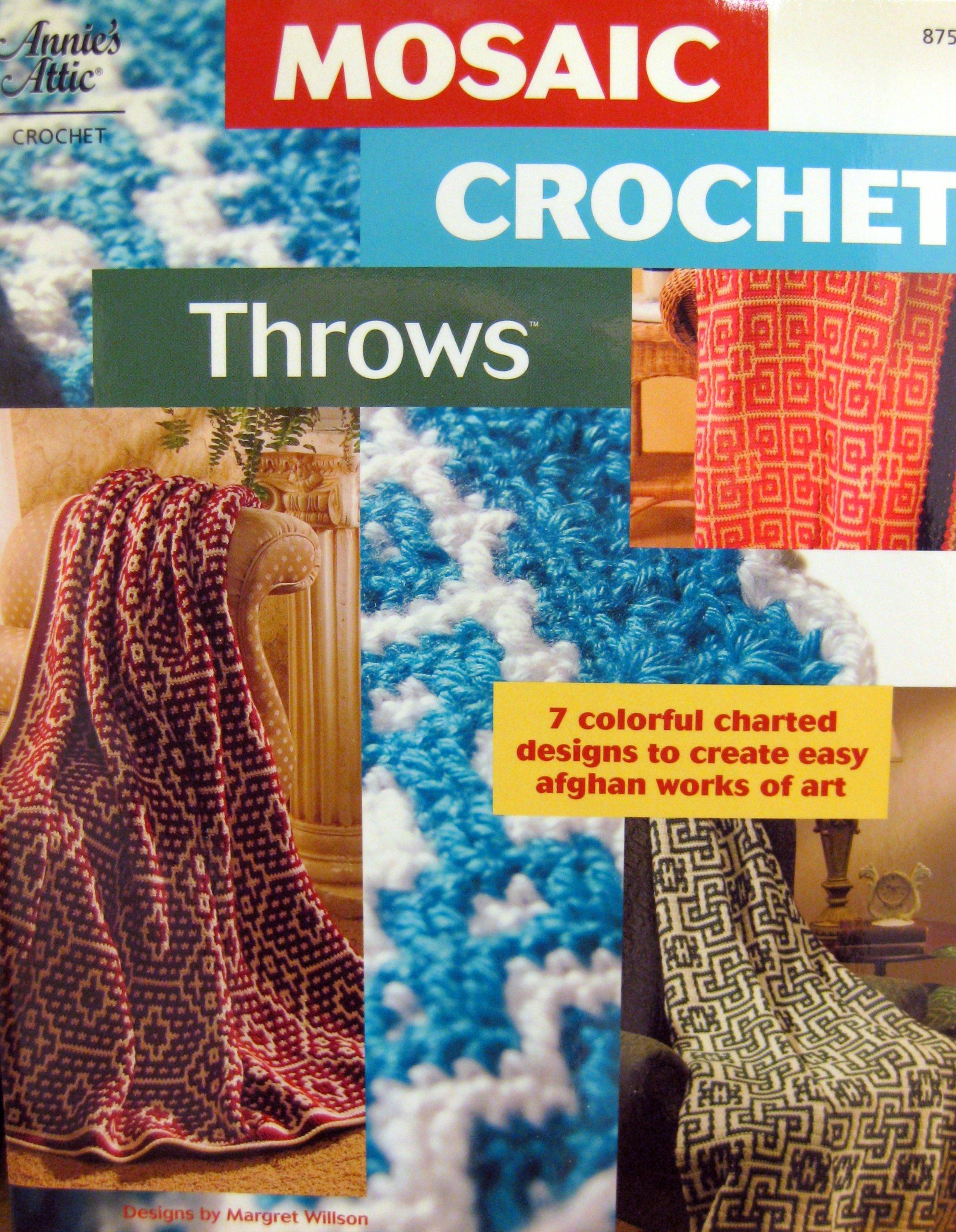 Mosaic Crochet Throws Annies Attic Margret Wilson 9781596350564