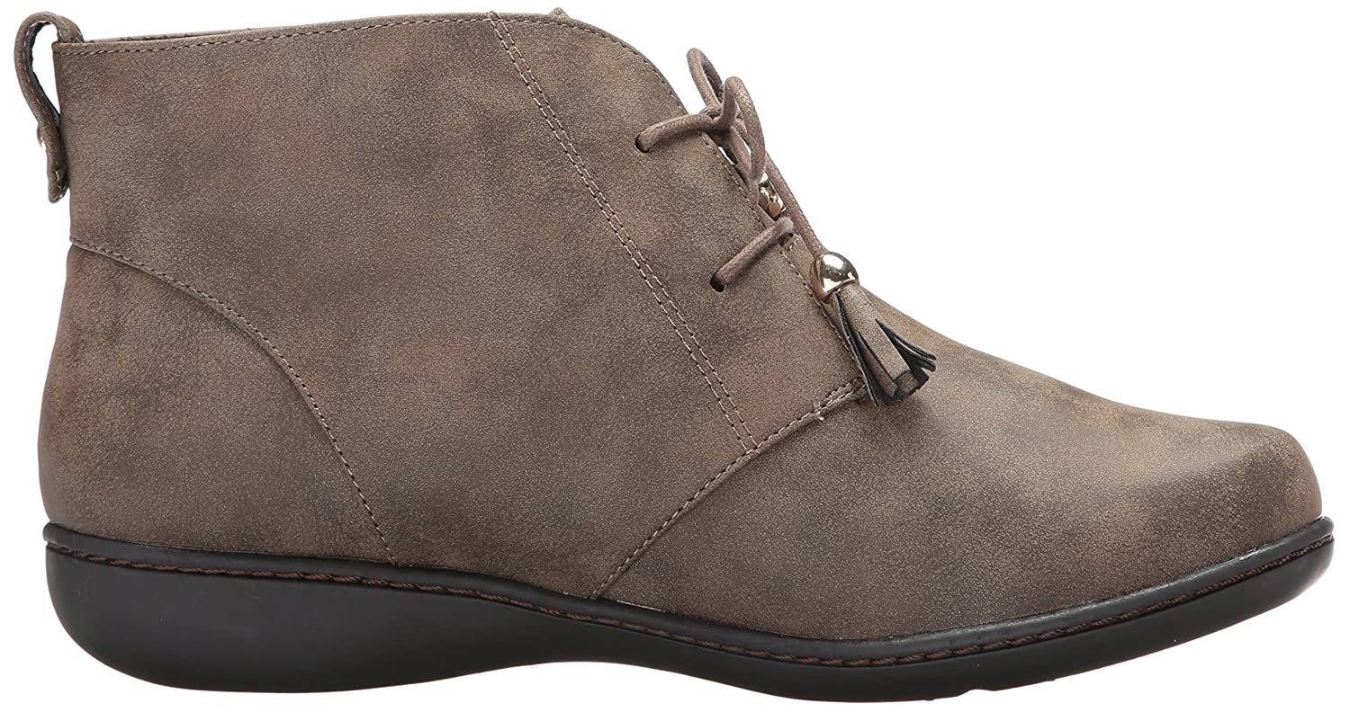 Soft Style Women's Jinger Ankle Bootie B01NCZB37R 9.5 W US|Taupe Evening Nubuck