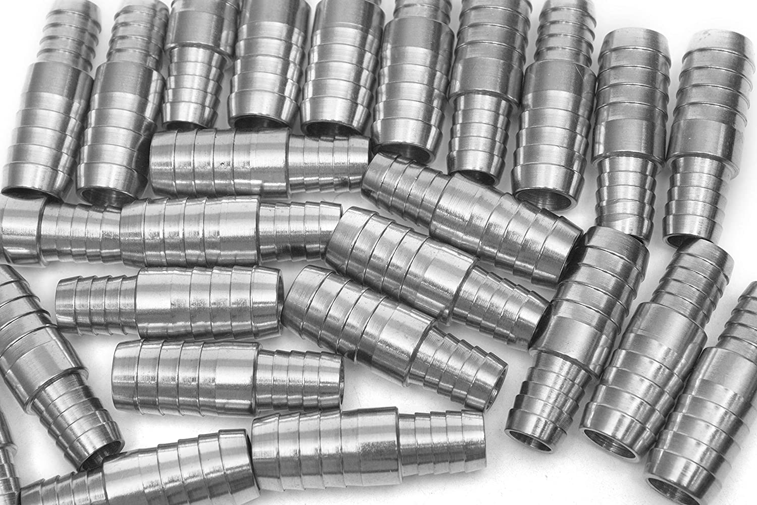 Generic Bar Production Stainless Steel 316 Barb Splicer Mender 1/2 Hose ID x 3/8 Hose ID Fitting Air Water Fuel Boat (Pack of 25) HuaxinYicheng Trade Co. Ltd.