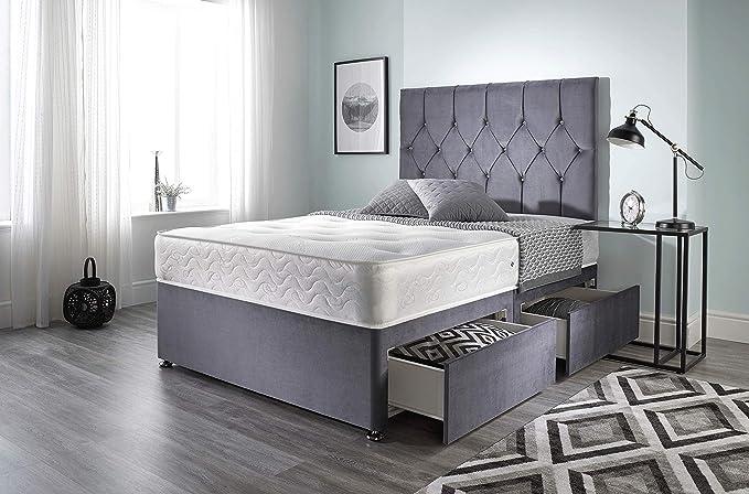 Bed Centre Ziggy Grey Plush Memory Foam Divan - Best Design