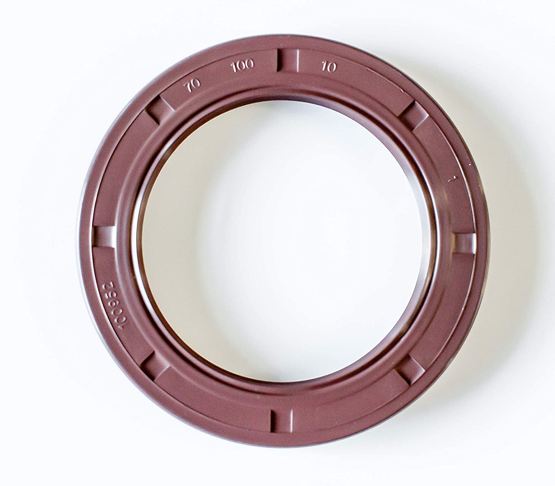 EAI VITON Metric Oil Shaft Seal 40x50x8mm Dust Grease TC Double Lip w// Spring