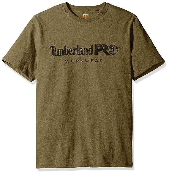 763457f0c2 Timberland PRO Men's Cotton Core Short-Sleeve T-Shirt, Burnt Olive, Small