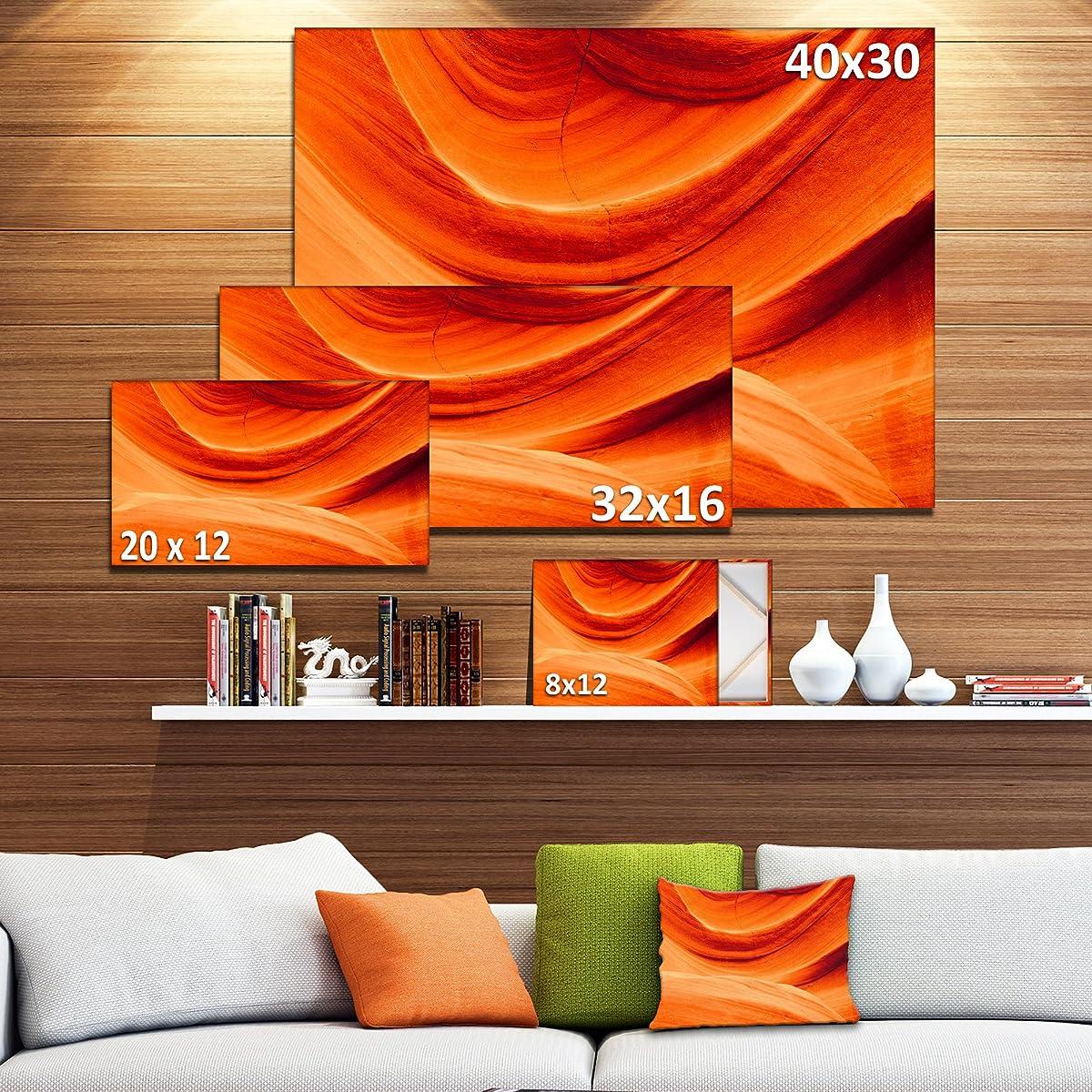 Design Art Antelope Canyon Orange Wall Landscape Photography Canvas Print
